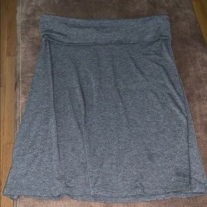 Old Navy Skirts - Old Navy gray short maxi style skirt size L
